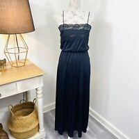Vintage Nylon Womens Night Gown Dress Nightie Full Length Size 10 12