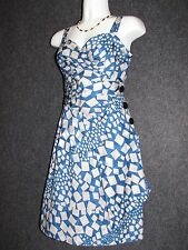 MARC BY MARC JACOBS Blue /Gray Pattern Cocktail DRESS SZ 4 NEW