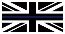 THIN BLUE LINE British Flag Insignia Car Van Ipad Laptop Window Sticker Police