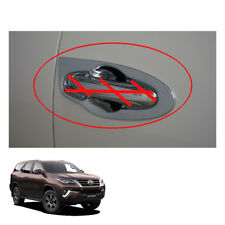 Door Handle Bowl Insert Cover Chrome For Toyota Fortuner Crusade 2015 - 2017