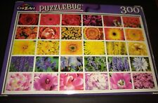 "PUZZLEBUG CraZart 18.25"" X 11"" Puzzle 300 Piece COLORFUL FLOWER COLLAGE"