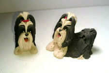 Vintage Cecile Bairde Clay Shihtzu Duo - Rare signed & Stamped