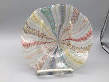 Fine Murano Venini Latticino Glass Fancy plate