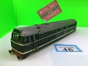 AIRFIX Class 31 Body Br Green Weathered Diesel Loco OO Train