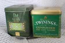 Vintage Twinings Gunpower Vert The Earl Grey Tea Caddy Tin, Canisters
