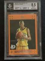 2007-08 Topps Rookie Card Orange #2 Kevin Durant Supersonics RC BGS 8.5 💥