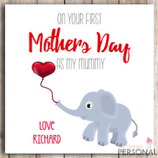 Personalised First Mothers Day as Mummy Card Mother's Day 1st Baby Son Daughter