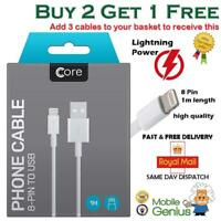 Genuine Core iPhone 11 X 6 5 7 8 Plus iPad Lightning USB Data Charger Lead Cable