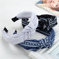 Women Fashion Bowknot Wide Hairbands Hair Hoop Headwear Head Band Accessories