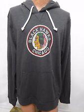 Chicago Blackhawks Hoodie Mens XL Hockey 47 Brand Cotton Gray NEW Vintage Logo