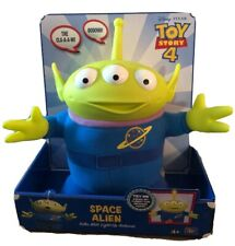 Toy Story 4 SPACE ALIEN Talks with Light-Up Antenna Movie Sounds Soft Doll Gift