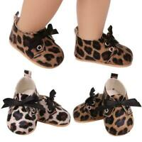 Fashion For 18Inch Doll Shoes Leopard Pattern Shoes Toy Accessories L7Q8