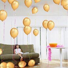 "100pcs 10"" Golden Pearl Latex Thickening Wedding Party Birthday Balloon Decor"
