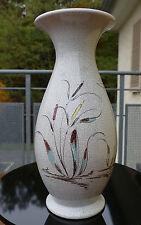 Vintage Silberdistel Craquele Keramik Vase mit schönem Dekor 50er /60er Jahre !!