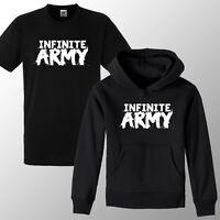 Kids Infinite Lists Army Youth Hoodie Infinite Merch T Shirt Boys Girls 3-12yrs