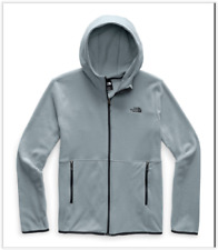 NWT The North Face TKA Glacier Full Zip Fleece Hoodie, Mid Grey, LARGE MSRP:$75