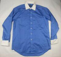Donald J Trump Dress Shirt Men 16 - 34/35 Blue White Signature Collection