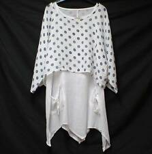 Scoop Neck Spotted 3/4 Sleeve Tunic, Kaftan Women's Tops & Shirts