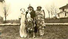 "Creepy Old Halloween Photo Vintage Homemade Scary Costumes- 17""x22"" Print- 00199"