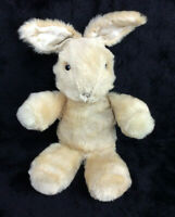 Vintage Mohair Bunny Rabbit Glass Eyes Light Brown Cream Plush 1950s