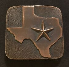 James Avery Retired Rare Texas Lone Star Belt Buckle Bronze