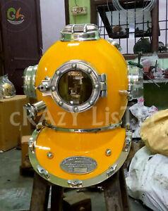 Rare Antique Diving Divers Solid Steel Helmet Mark V U.S Navy Vintage Divers DH