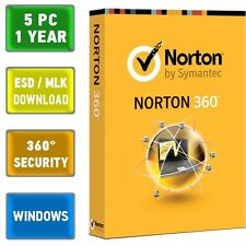 Norton 360 2014 2015 5 PC, 1 Year