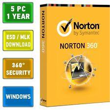 Norton 360 2014 2015 5 PC , 1 Jahr