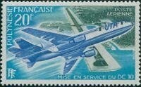 French Polynesia 1973 Sc#C97,SG168 20f Douglas DC-10 Papeete Airport MNH