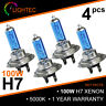 H7 100W HID WHITE XENON HALOGEN BULBS 12V PLASMA UPGRADE 5000K-6000K