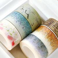 10m*2cm Retro Flower Washi Paper Tape Masking Decor Adhesive Tapes Roll DIY CN