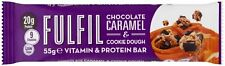 15 X FULFIL Chocolate Caramel & Cookie Dough Vitamin & Protein Bars Best Value!