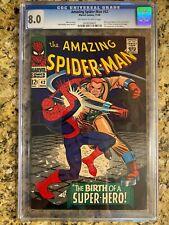 AMAZING SPIDER-MAN #42 CGC 8.0 / 1ST MARY JANE CAMEO / 2ND RHINO / MARVEL COMIC