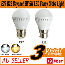 AU E27 B22 Bayonet 3W 5W  LED Fancy Globe Light Lamp Bulb Warm/White AC220-240V