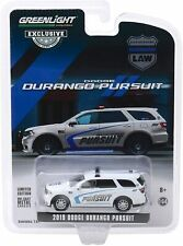 2019 DODGE DURANGO Pursuit Police SUV White - 1/64  GREENLIGHT