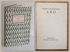 Van de Velde AMO Erste Ausgabe EA 1912 Insel-Verlag Insel-Bücherei Nr. 3 xz