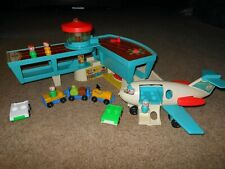 Fisher Price Vintage 1972 Little People Airport With Airplane # 966 +