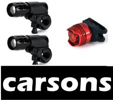 two pieces front lights & rear red LED bike light set for road mountain bikes