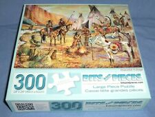 BITS & PIECES 300pc Lg Jigsaw Puzzle Native American Peaceful Village Indian