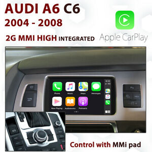 Audi A6 C6 2004-2008 2G MMi High Apple CarPlay & Android auto Integration