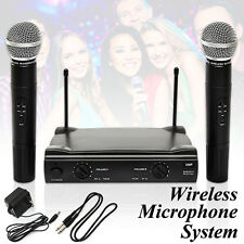 Pro Dual WIRELESS CORDLESS MICROPHONE SYSTEM & WIRELESS UT4 TYPE MIC Party Home