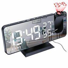 Led Digital Two Alarm Clock Electronic Desktop Clocks Usb Wake Up Fm Radio Snooz