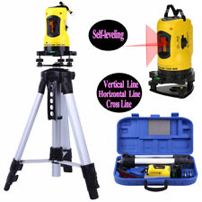 Rotating Rotary Laser Level Dual Axis Line Self-leveling w/Tripod & Hard Case