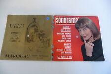 SONORAMA N°29 AVRIL 1961 TRENET FERRE EDITH PIAF JULIETTE GRECO BRIGITTE BARDOT