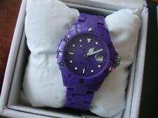 Unisex LTD Adult Analogue Purple Plastic Strap Watch - Limited Edition