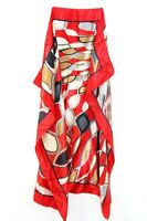 ABSTRACT INSPIRED DESIGN RED BOLD SILK LADIES UNIQUE NECK TIE/SCARF (MS9)