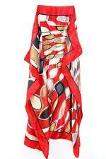 Diseño inspirado en abstracto rojo audaz corbata de seda señoras única/Bufanda (MS9)