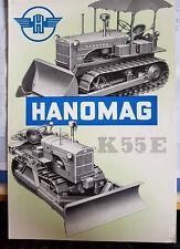 PROSPEKT HANOMAG K 55 E PLANIERRAUPE 55 PS DIESEL NUMMER 201