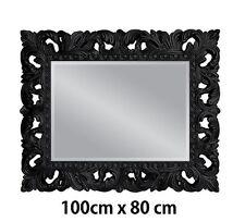 Specchio muro Antico Barocco Repro nero Squallido GLAMOUR 100x80 NUOVO WOE