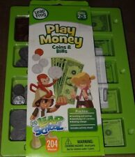 Leap Frog Play Money Coins & Bills-204 Pieces-Gr. 2-3-New In Pkg.